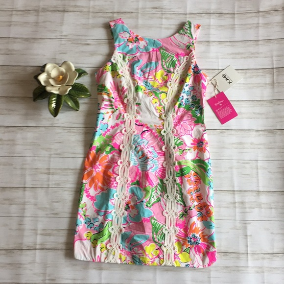 Lilly Pulitzer Nosey Posie Floral Shift dress Sz 4